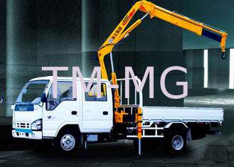 XCMG Durable Arm Move Fast Articulated Boom Crane , 3.2 Ton Truck With Crane